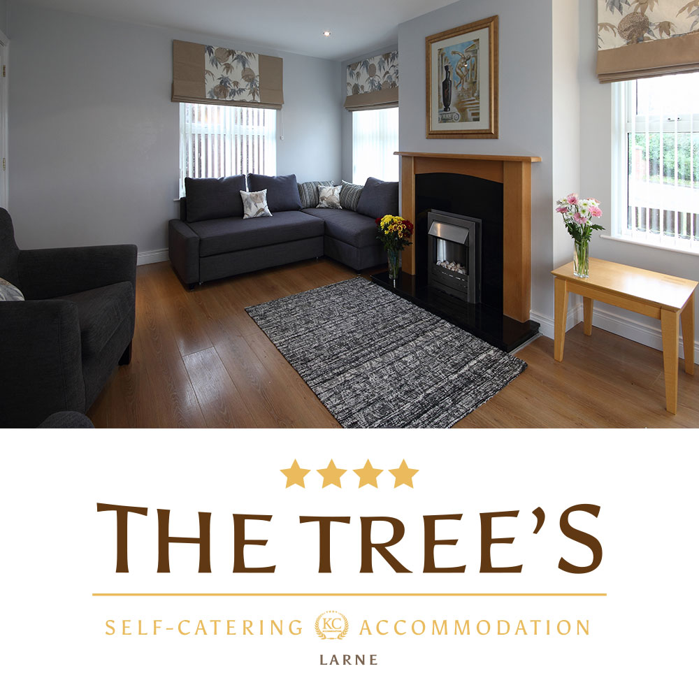 Larne accommodation. Self-catering. The Tree's - Northern Ireland.